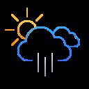 Lluvia  moderada a intervalos
