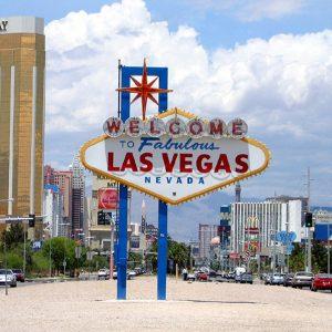 Letrero Bienvenido a Las Vegas